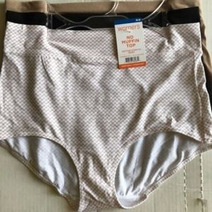 Warner's Olga Cotton Stretch Briefs Panties S/5 XL